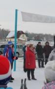 Открывает лыжные гонки начальник Управления образования Афанасьева Г.И.